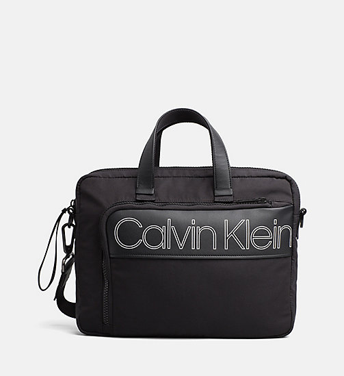 CALVINKLEIN Medium Laptop Bag - BLACK - CALVIN KLEIN LAPTOP BAGS - main image