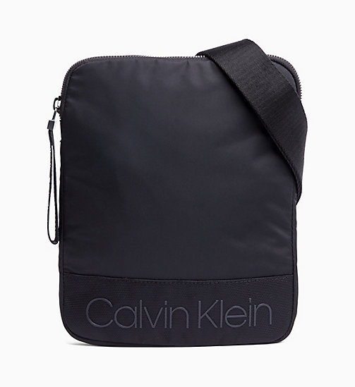 CALVIN KLEIN Flat Cross Body Bag - BLACK - CALVIN KLEIN The New Off-Duty - main image