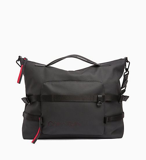 CALVINKLEIN Large Tote Bag - BLACK /ROUGE - CALVIN KLEIN WEEKEND BAGS - main image