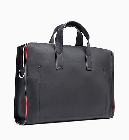 CALVINKLEIN Slim Laptop Bag - BLACK/ NAVY/ ROSE QUARTZ - CALVIN KLEIN LAPTOP BAGS - detail image 1