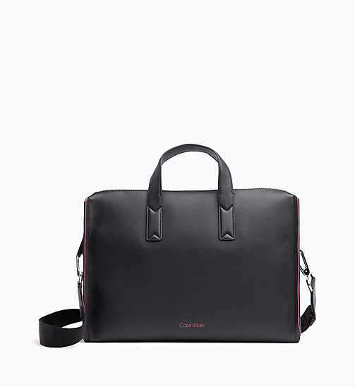 CALVIN KLEIN Slim Laptop Bag - BLACK/ NAVY/ ROSE QUARTZ - CALVIN KLEIN BAGS - main image
