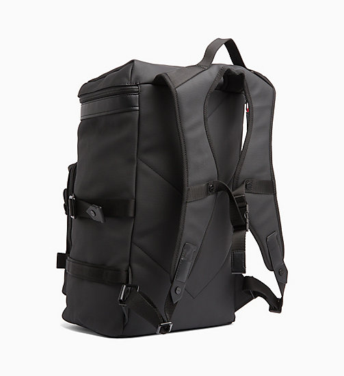 CALVIN KLEIN Coated Canvas Backpack - BLACK /ROUGE - CALVIN KLEIN BAGS - detail image 1