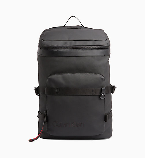 CALVINKLEIN Coated Canvas Backpack - BLACK / ROUGE - CALVIN KLEIN BACKPACKS - main image