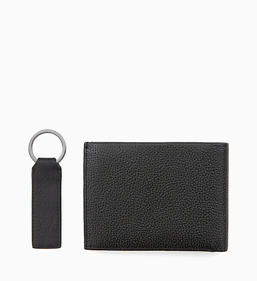 CALVINKLEIN Leather Wallet and Keyring Gift Box - BLACK - CALVIN KLEIN WALLETS & SMALL ACCESSORIES - detail image 1
