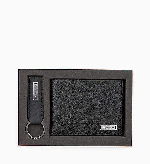 CALVIN KLEIN Leather Wallet and Keyring Gift Box - BLACK - CALVIN KLEIN ALL GIFTS - detail image 1