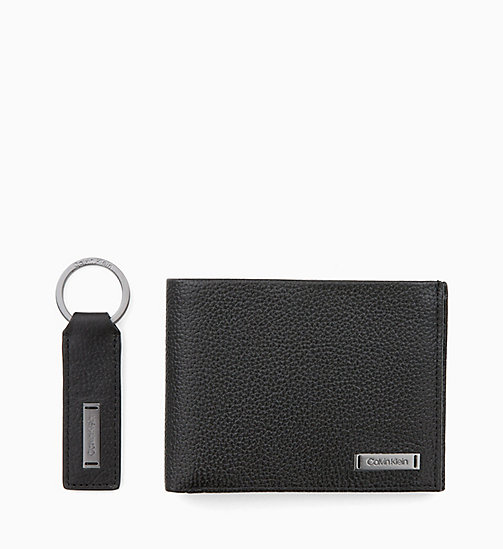 CALVINKLEIN Leather Wallet and Keyring Gift Box - BLACK - CALVIN KLEIN WALLETS & SMALL ACCESSORIES - main image