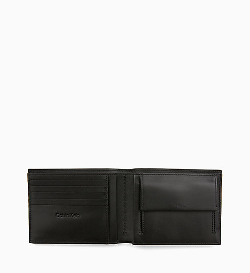 CALVIN KLEIN Leather Wallet - BLACK - CALVIN KLEIN MEN - detail image 1