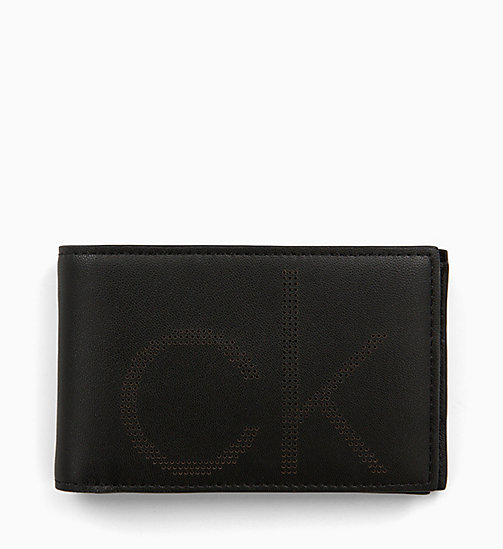 CALVIN KLEIN Leather Wallet - BLACK - CALVIN KLEIN MEN - main image