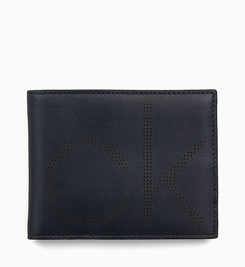 CALVIN KLEIN Leather Wallet - NIGHTSCAPE - CALVIN KLEIN WALLETS & SMALL ACCESSORIES - main image