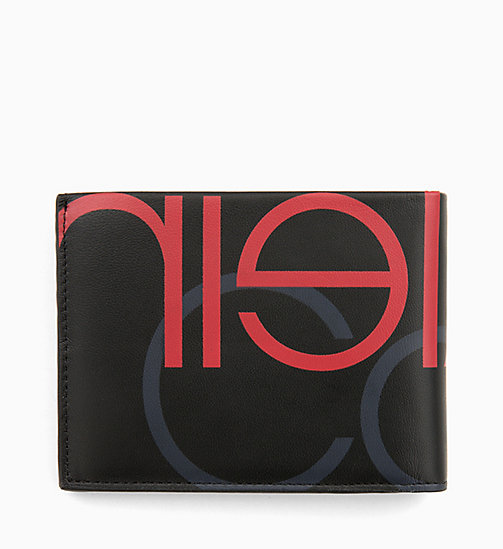 CALVINKLEIN Leather Logo Wallet - BLACK/NIGHTSCAPE/ROUGE - CALVIN KLEIN WALLETS & SMALL ACCESSORIES - detail image 1
