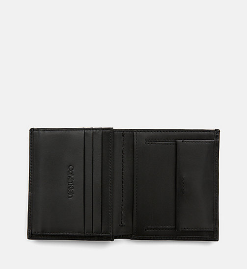 CALVIN KLEIN Leather Wallet - BLACK - CALVIN KLEIN WALLETS & SMALL ACCESSORIES - detail image 1