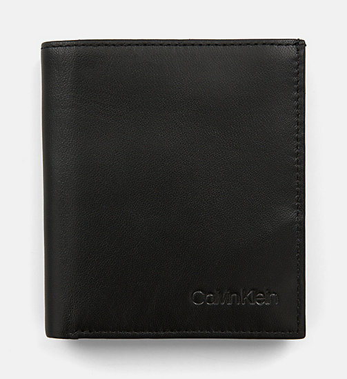 CALVIN KLEIN Leather Wallet - BLACK - CALVIN KLEIN WALLETS & SMALL ACCESSORIES - main image