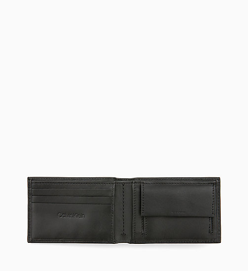 CALVINKLEIN Leather Wallet - BLACK - CALVIN KLEIN MEN - detail image 1