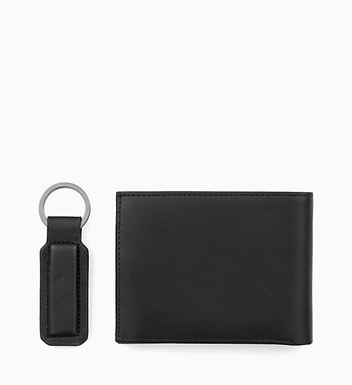 CALVINKLEIN Leather Wallet and Keyring Gift Box - BLACK -  ALL GIFTS - detail image 1