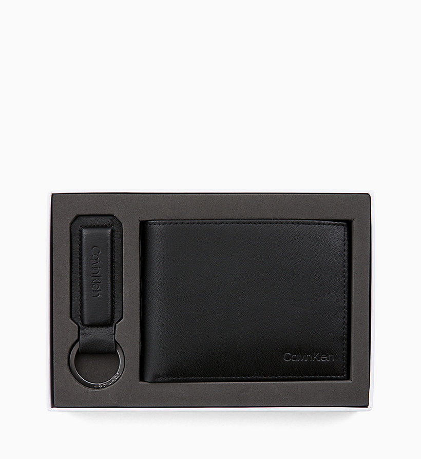 CALVIN KLEIN Leather Wallet and Keyring Gift Box - NIGHTSCAPE - CALVIN KLEIN MEN - detail image 2