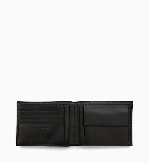 CALVIN KLEIN Leather Wallet - BLACK - CALVIN KLEIN ALL GIFTS - detail image 1