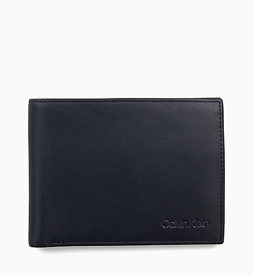 CALVIN KLEIN Leather Wallet - NIGHT SCAPE - CALVIN KLEIN WALLETS & SMALL ACCESSORIES - main image