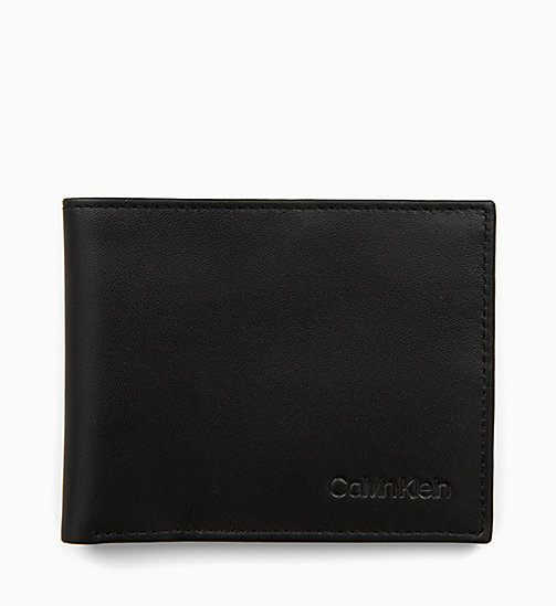 CALVIN KLEIN Leather Slimfold Wallet - BLACK - CALVIN KLEIN ALL GIFTS - main image