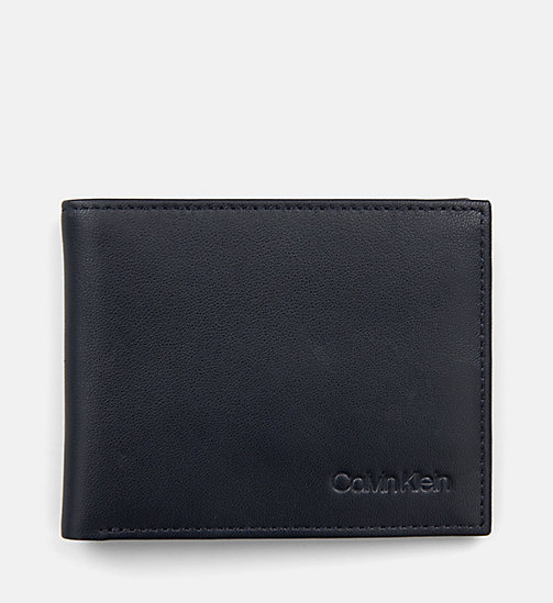 CALVINKLEIN Leather Slimfold Wallet - NIGHTSCAPE - CALVIN KLEIN WALLETS & SMALL ACCESSORIES - main image