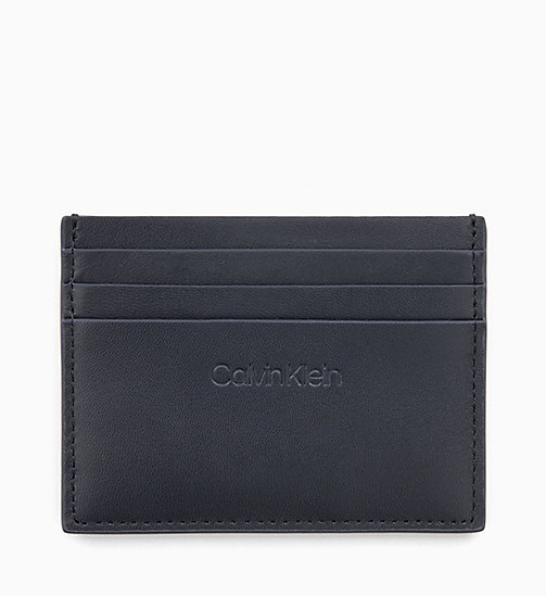 CALVINKLEIN Leather Cardholder - NIGHTSCAPE - CALVIN KLEIN WALLETS & SMALL ACCESSORIES - main image
