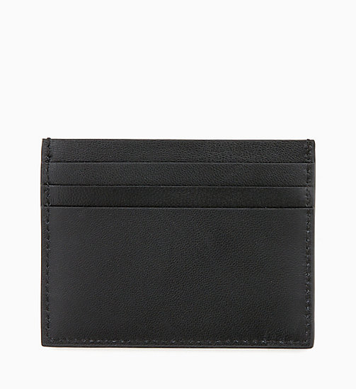 CALVINKLEIN Leather Cardholder - BLACK -  MEN - detail image 1