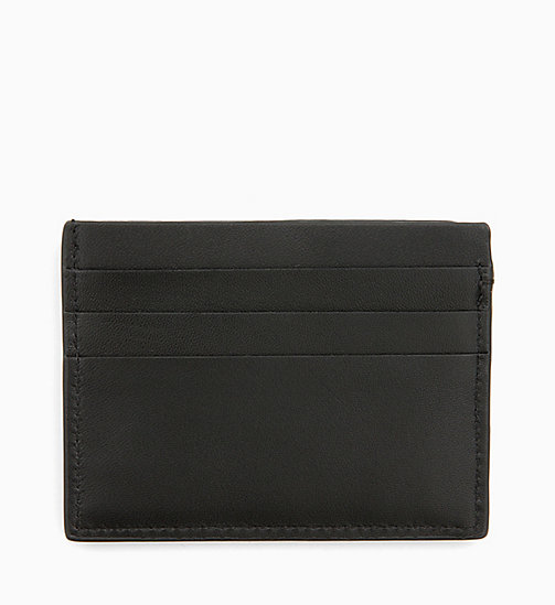 CALVINKLEIN Leather Cardholder - BLACK/ NAVY/ ROSE QUARTZ -  MEN - detail image 1