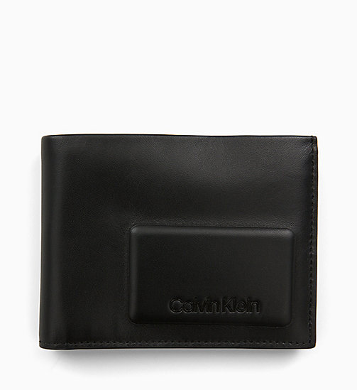 CALVINKLEIN Leather Wallet - BLACK - CALVIN KLEIN WALLETS & SMALL ACCESSORIES - main image