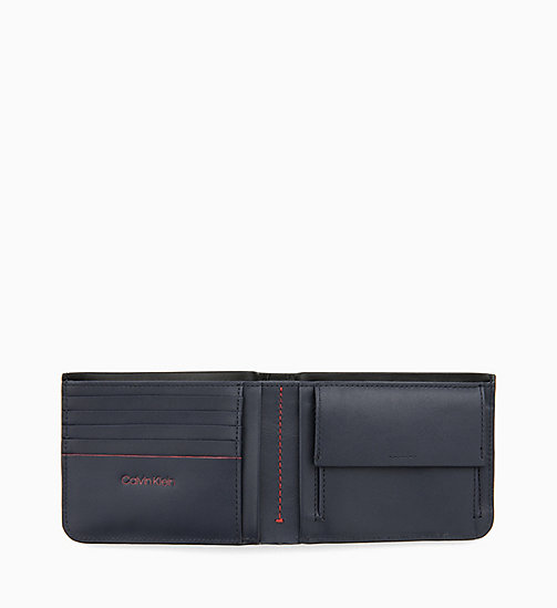 CALVIN KLEIN Leather Wallet - BLACK/ NAVY/ ROSE QUARTZ - CALVIN KLEIN WALLETS & SMALL ACCESSORIES - detail image 1