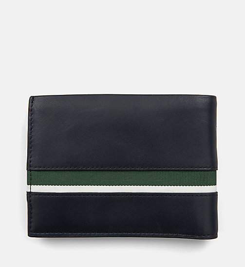 CALVINKLEIN Leather Wallet - NAVY /GREEN GRASS /OFF WHITE - CALVIN KLEIN WALLETS & SMALL ACCESSORIES - detail image 1