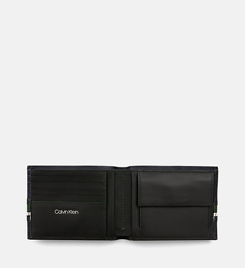 CALVIN KLEIN Leather Wallet - NAVY /GREEN GRASS /OFF WHITE - CALVIN KLEIN WALLETS & SMALL ACCESSORIES - detail image 1