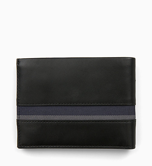 CALVINKLEIN Leather Wallet - BLACK / NAVY / STEEL GREYSTONE - CALVIN KLEIN WALLETS & SMALL ACCESSORIES - detail image 1