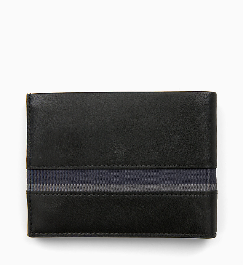 CALVIN KLEIN Leather Wallet - NAVY /GREEN GRASS /OFF WHITE - CALVIN KLEIN MEN - detail image 1