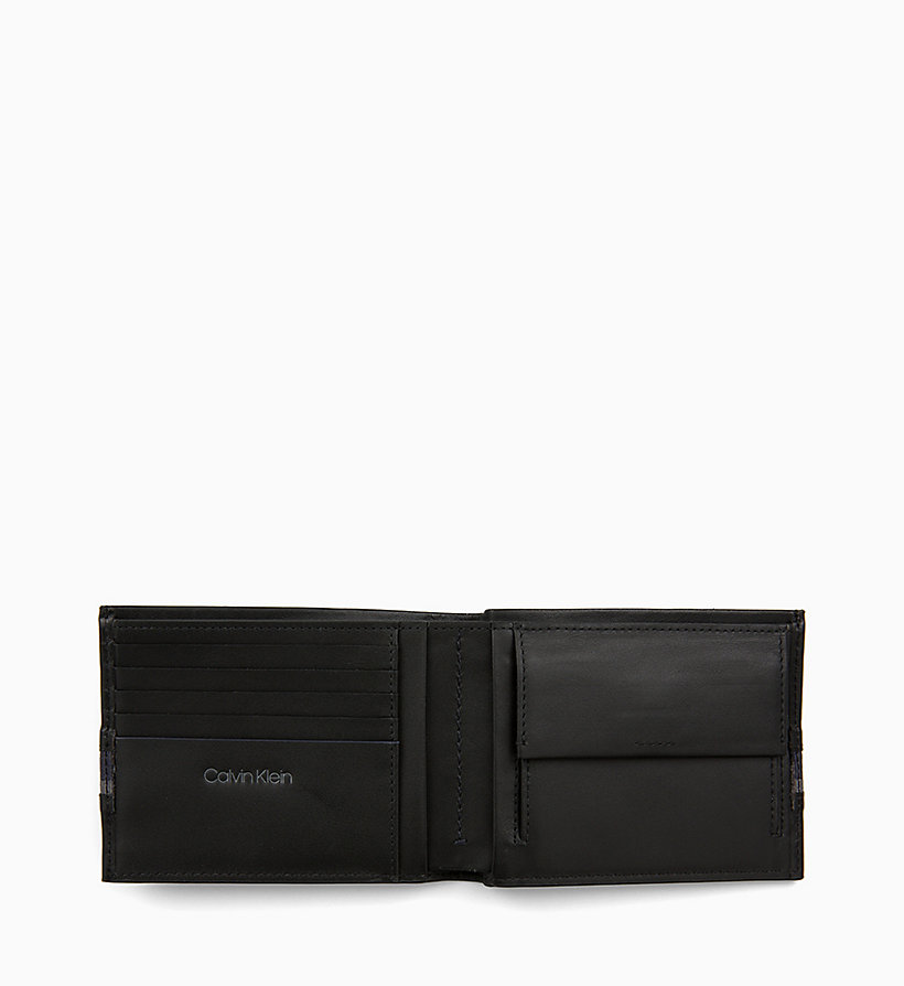CALVIN KLEIN Leather Wallet - NAVY /GREEN GRASS /OFF WHITE - CALVIN KLEIN MEN - detail image 2