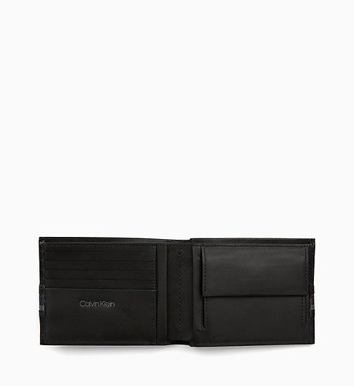 CALVIN KLEIN Leather Wallet - BLACK / NAVY / STEEL GREYSTONE - CALVIN KLEIN MEN - detail image 1