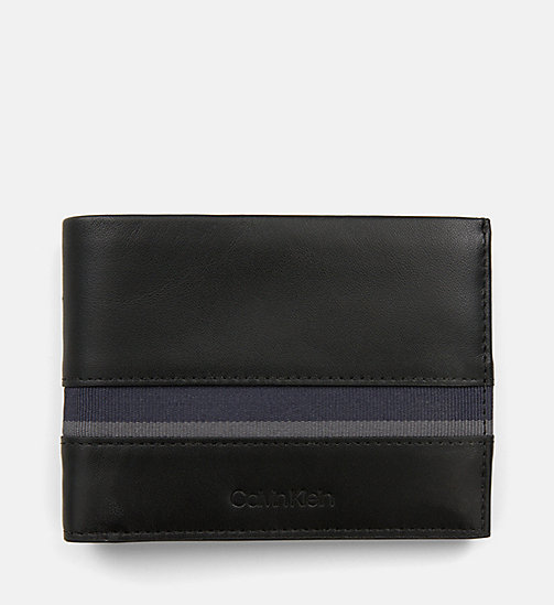 CALVIN KLEIN Leather Wallet - BLACK / NAVY / STEEL GREYSTONE - CALVIN KLEIN MEN - main image