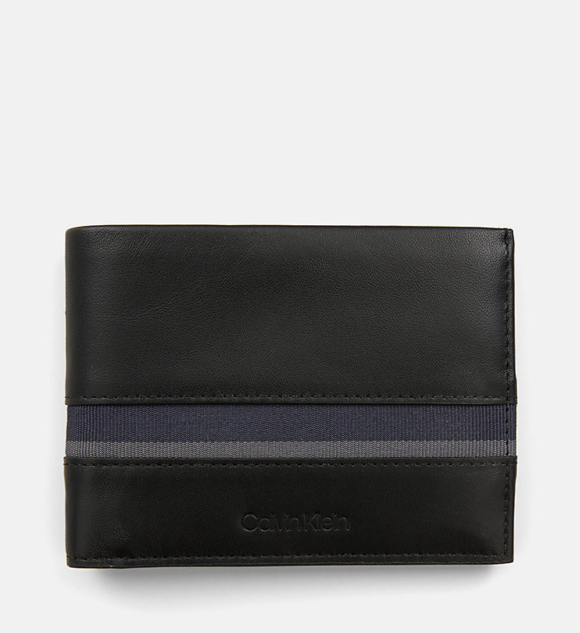 CALVIN KLEIN Leather Wallet - NAVY /GREEN GRASS /OFF WHITE - CALVIN KLEIN MEN - main image