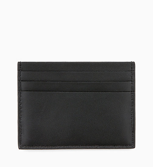 CALVINKLEIN Leather Cardholder - BLACK / NAVY / STEEL GREYSTONE -  MEN - detail image 1