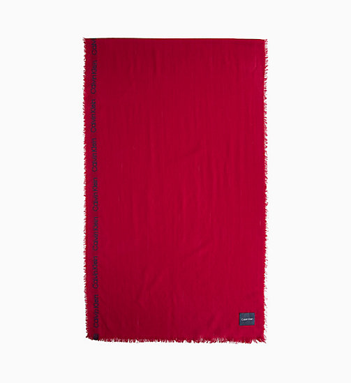 CALVIN KLEIN Selvedge Wool Scarf - RED ROCK - CALVIN KLEIN SCARVES - main image