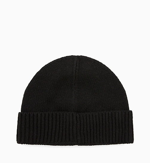 CALVINKLEIN Wool Blend Beanie - BLACK - CALVIN KLEIN NEW IN - detail image 1