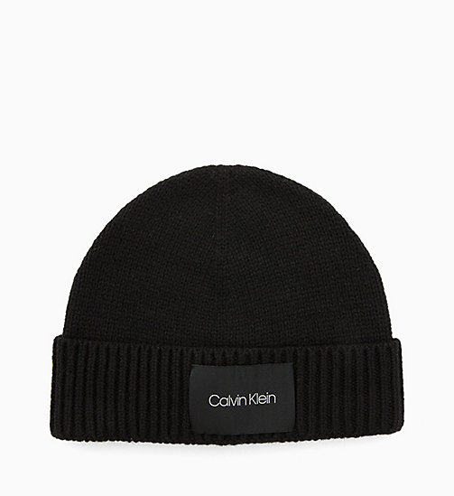 CALVINKLEIN Wool Blend Beanie - BLACK - CALVIN KLEIN ALL GIFTS - main image