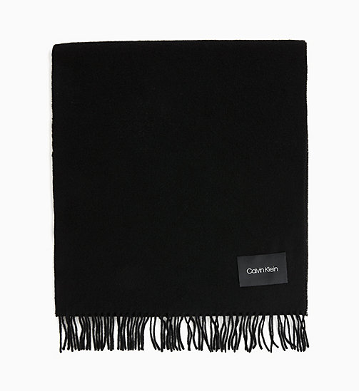 CALVINKLEIN Wool Scarf - BLACK - CALVIN KLEIN INVEST IN COLOUR - main image