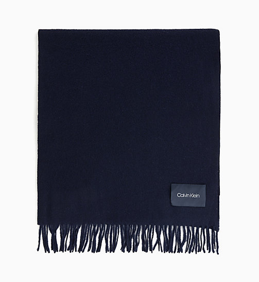 CALVINKLEIN Wool Scarf - DARK NAVY - CALVIN KLEIN INVEST IN COLOUR - main image