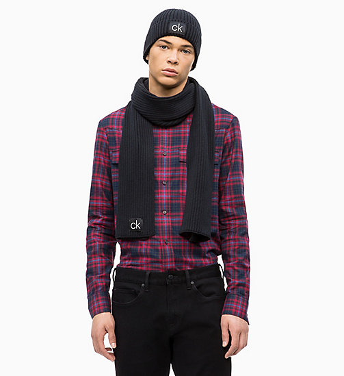 CALVINKLEIN Scarf and Beanie Gift Box - BLACK - CALVIN KLEIN MEN - detail image 1