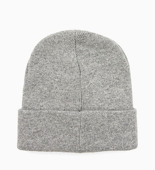 CALVINKLEIN Wool Blend Beanie - MID GREY HEATHER B38 - VOL39 - CALVIN KLEIN HATS - detail image 1