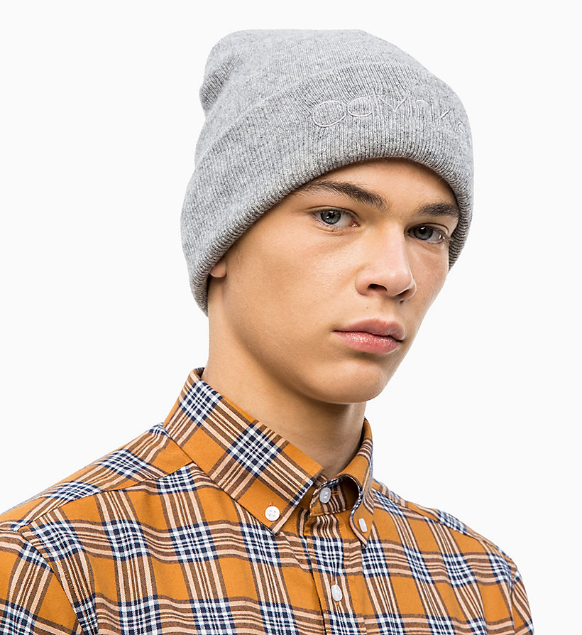 CALVINKLEIN Wool Blend Beanie - DARK NAVY - CALVIN KLEIN MEN - detail image 2