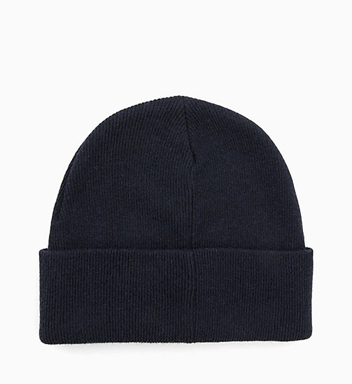 CALVINKLEIN Wool Blend Beanie - DARK NAVY - CALVIN KLEIN MEN - detail image 1