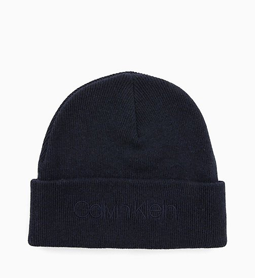 CALVIN KLEIN Wool Blend Beanie - DARK NAVY -  HATS - main image