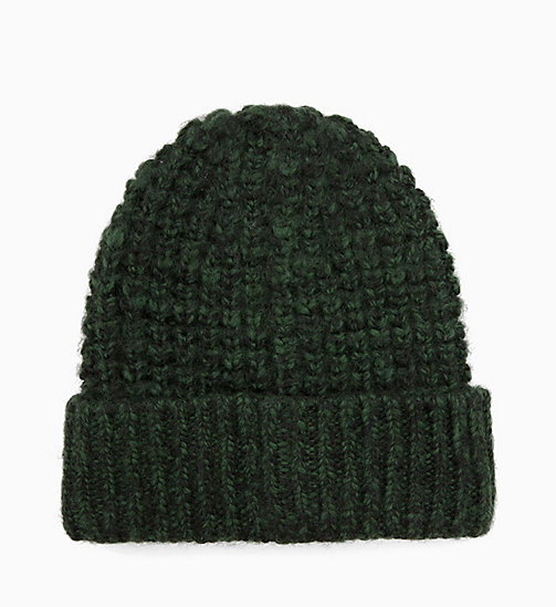 CALVIN KLEIN Grob gestrickte Beanie aus Wollgemisch - GREYSTONE - CALVIN KLEIN IN THE THICK OF IT FOR HIM - main image 1