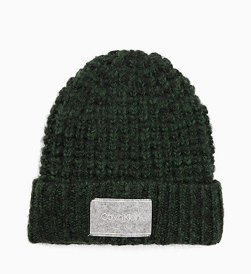 CALVINKLEIN Grob gestrickte Beanie aus Wollgemisch - GREYSTONE - CALVIN KLEIN IN THE THICK OF IT FOR HIM - main image