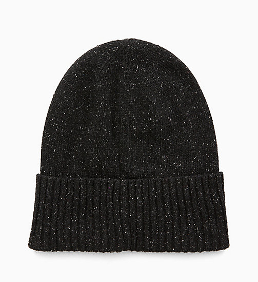 CALVINKLEIN Wool Blend Beanie - BLACK - CALVIN KLEIN MEN - detail image 1